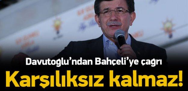 Başbakan Davutoğlu'ndan Bahçeli'ye çağrı