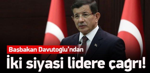 Başbakan Davutoğlu'ndan liderlere çağrı