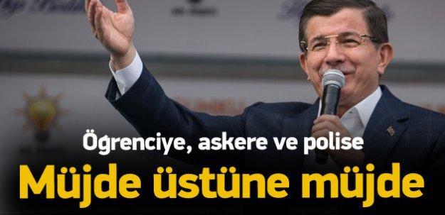 Başbakan Davutoğlu'ndan öğrencilere müjde