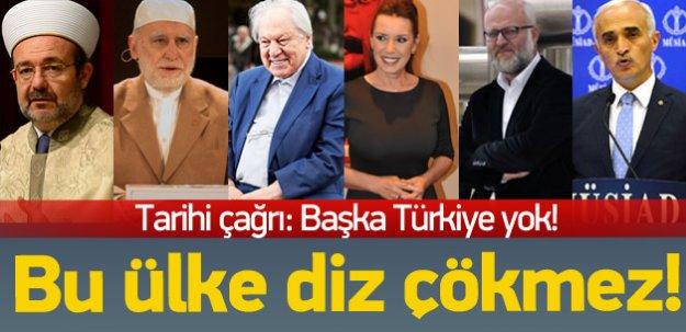 'Başka Türkiye Yok' çağrısına her kesimden destek