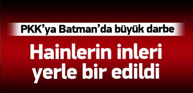Batman'da teröristlerin sığınakları imha edildi