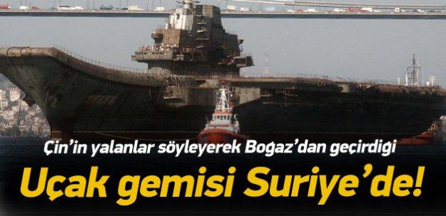 Çin'in Boğaz'dan geçirdiği uçak gemisi Suriye'de