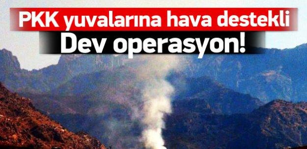 Cudi Dağı'nda PKK'ya hava destekli operasyon!