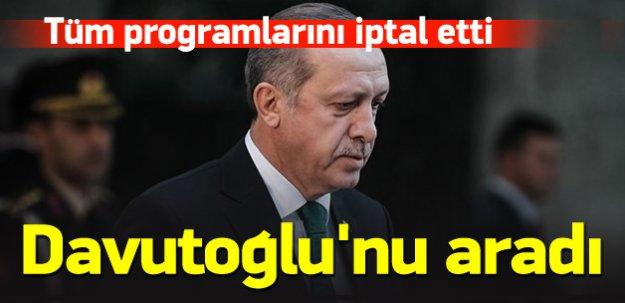 Cumhurbaşkanı Erdoğan programlarını iptal etti