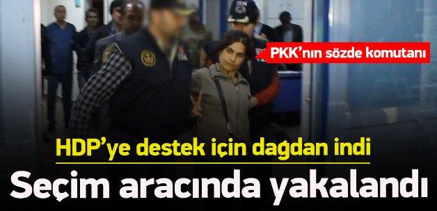 Dağdan inen PKK'nın sözde komutanı yakalandı