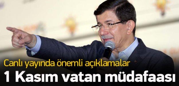 Davutoğlu: 1 Kasım vatan müdafaası