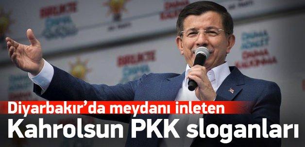 Davutoğlu konuştu, halk PKK'ya lanet okudu