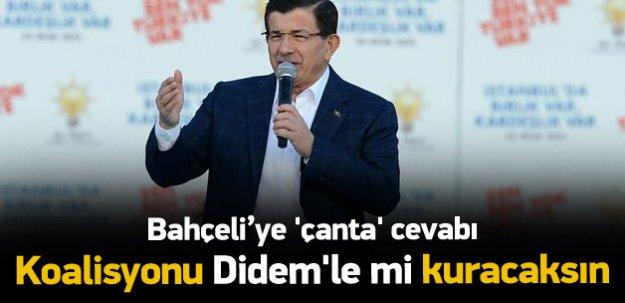 Davutoğlu'ndan Bahçeli'ye çanta cevabı