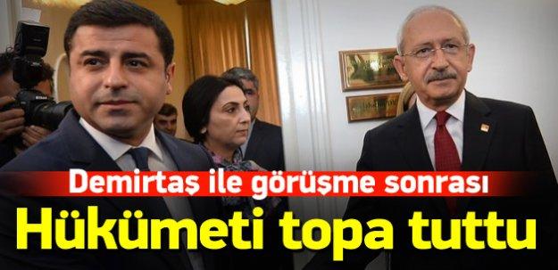 Demirtaş ile görüşen Kılıçdaroğlu'ndan açıklama