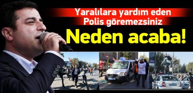 Demirtaş: Polisler yaralılara yardım etmedi