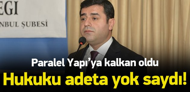 Demirtaş'tan Başsavcılık kararına 'mafya' yaftası