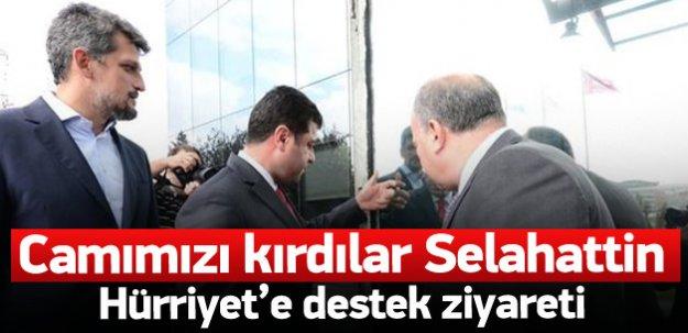 Demirtaş'tan Hürriyet'e destek ziyareti