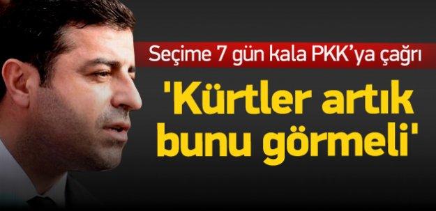 Demirtaş'tan PKK'ya: Silahla eylemleri bitirin