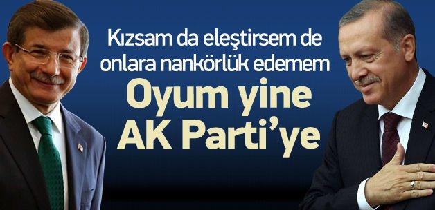 'Eleştirsem de AK Parti'ye nankörlük edemem'