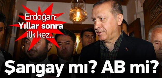 Erdoğan'dan 'Şangay' açıklaması
