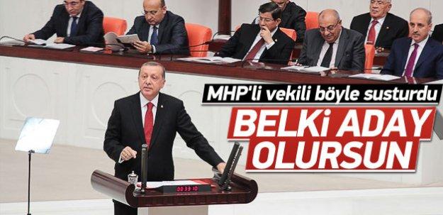 Erdoğan Oktay Vural'ı susturdu
