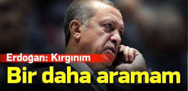 Erdoğan: Putin'i bir daha aramanın anlamı yok