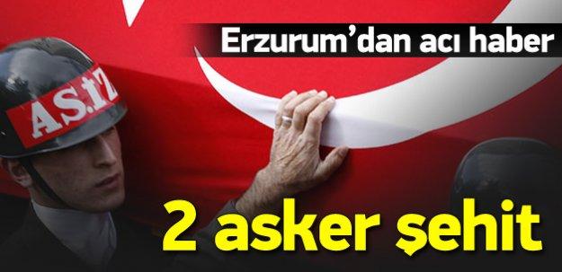 Erzurum'da terör operasyonu: 2 şehit