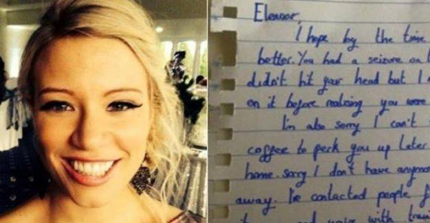 Fenalaşan kadın bu mektubu yazan kişiyi arıyor!