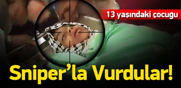 Filistinli çocuğu sniperla öldürdüler