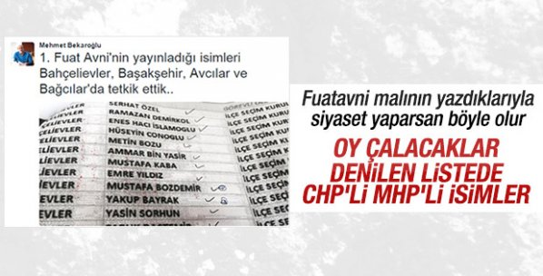 Fuat Avni'nin yayınladığı isimler yalan çıktı
