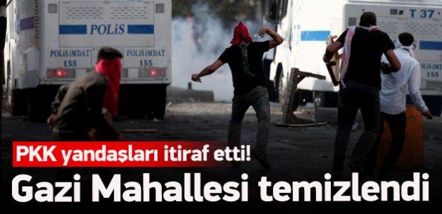 Gazi Mahallesi teröristlerden temizlendi