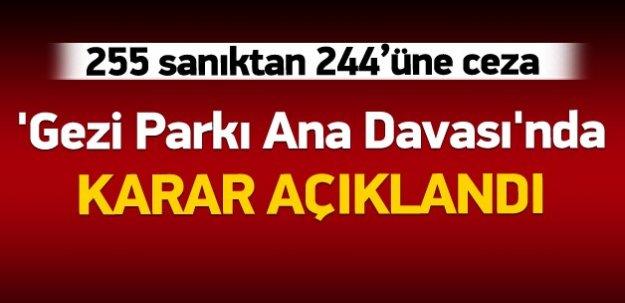 'Gezi Parkı Ana Davası'nda karar açıklandı