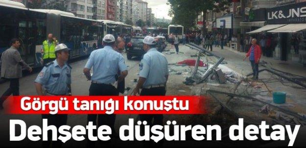 Görgü tanığı Ankara'daki kazayı anlattı
