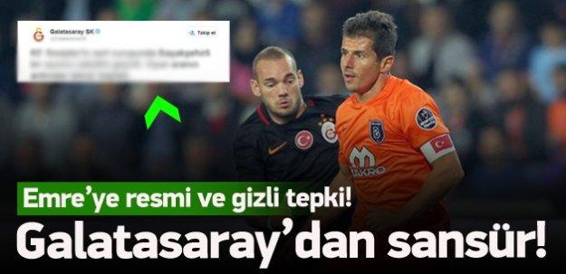 G.Saray'dan Emre Belözoğlu'na sansür!
