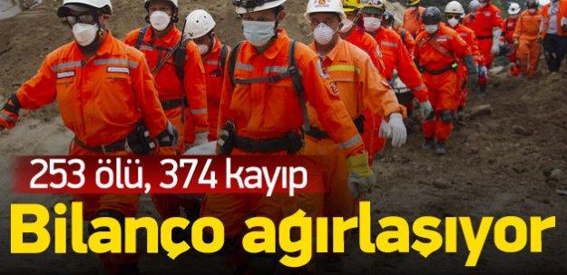 Guatemala'daki heyelanda son bilanço: 253 ölü