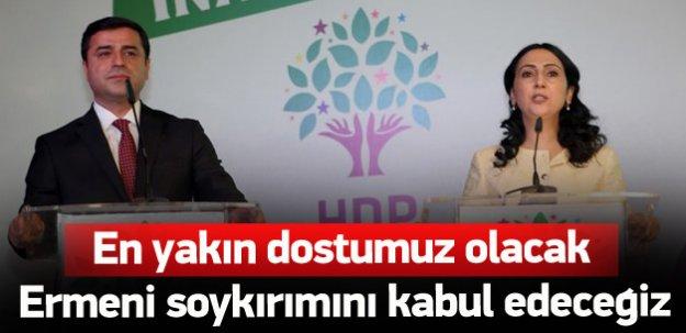 HDP Ermeni Soykırımını kabul edecek