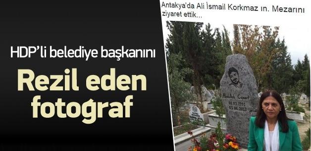 HDP'li başkanı rezil eden fotoğraf!