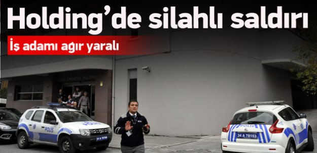 Holding binasında silahlı saldırı