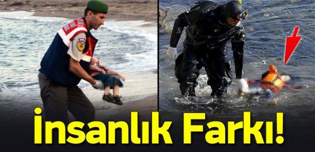 İki fotoğraf arasındaki insanlık farkı