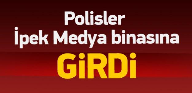 İpek Medya binası önünde polis müdahalesi