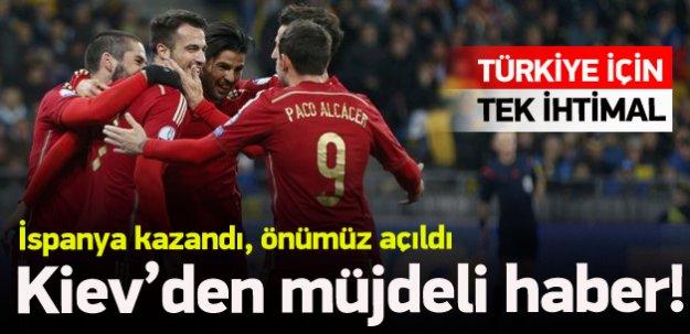İspanya kazandı, Türkiye'nin önü açıldı