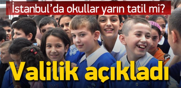 İstanbul'da okullar 6 Ekim'de (yarın) tatil mi?