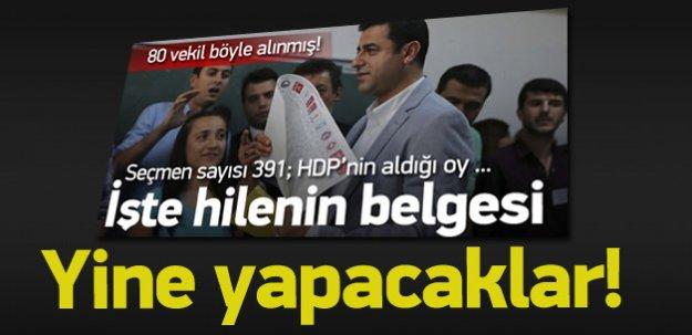 İşte HDP'nin sandık terörünün belgesi