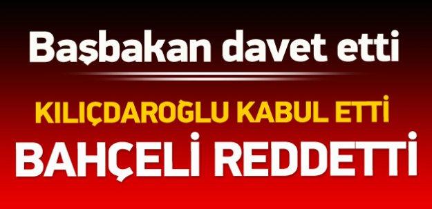 Kılıçdaroğlu kabul etti, Bahçeli reddetti