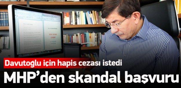 MHP'den skandal Davutoğlu başvurusu