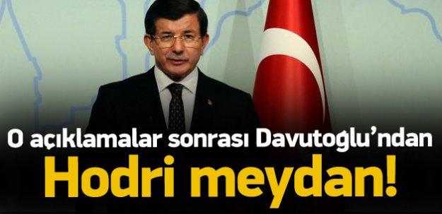 O açıklamalara Davutoğlu'ndan hodri meydan