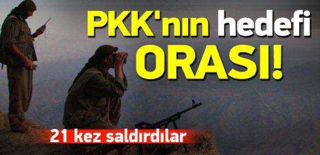 PKK'nın hedefi orası! 1 yıl içinde 21 saldırı
