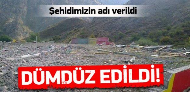 PKK'nın sözde mezarı dümdüz edildi