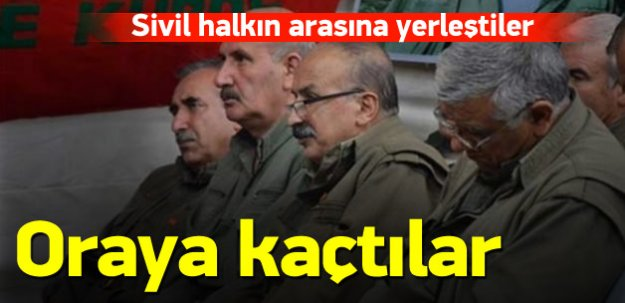 PKK'nın üst düzey isimleri oraya kaçtı