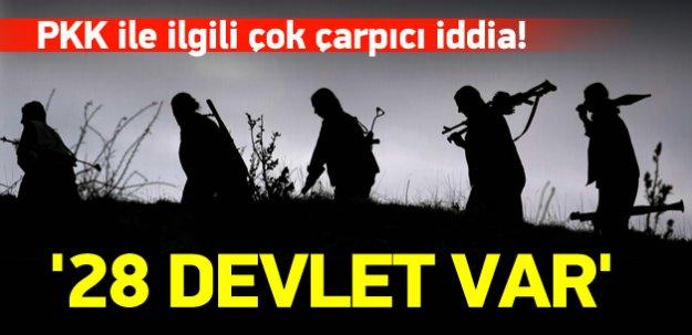 'PKK'nın arkasında 28 devlet var'