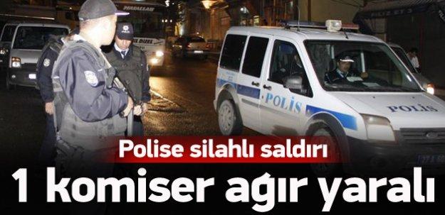Polise silahlı saldırı: 1 ağır yaralı