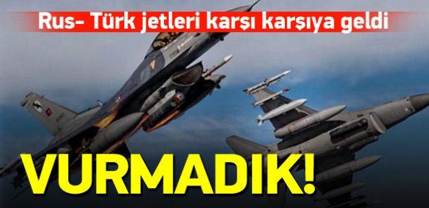 Rus jetleri ile Türk jetleri karşı karşıya geldi