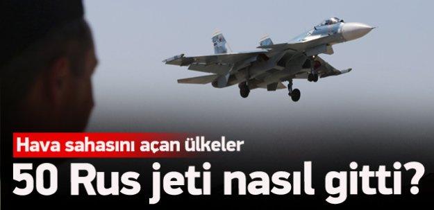 Rus jetleri Suriye'ye nasıl gitti?