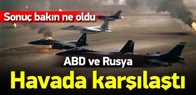 Rus uçağı ABD jetlerini engelledi