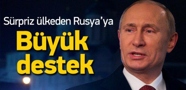 Rusya'ya sürpriz ülkeden destek!